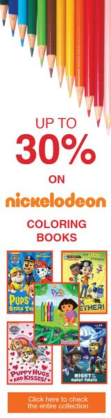 Up to 30% on nickelodeon coloring books